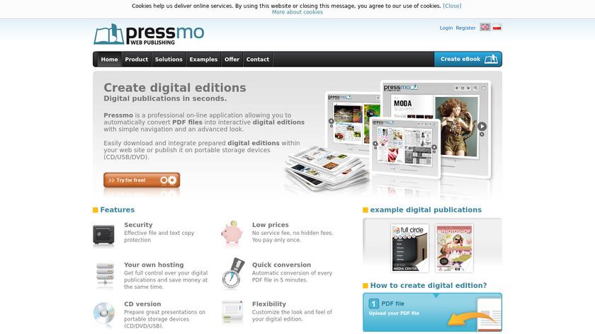 Pressmo Landing Page