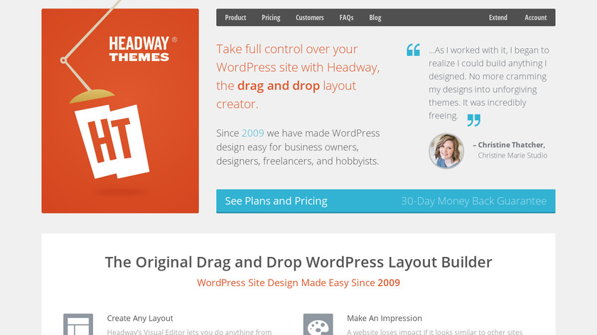 Headway Themes Landing Page