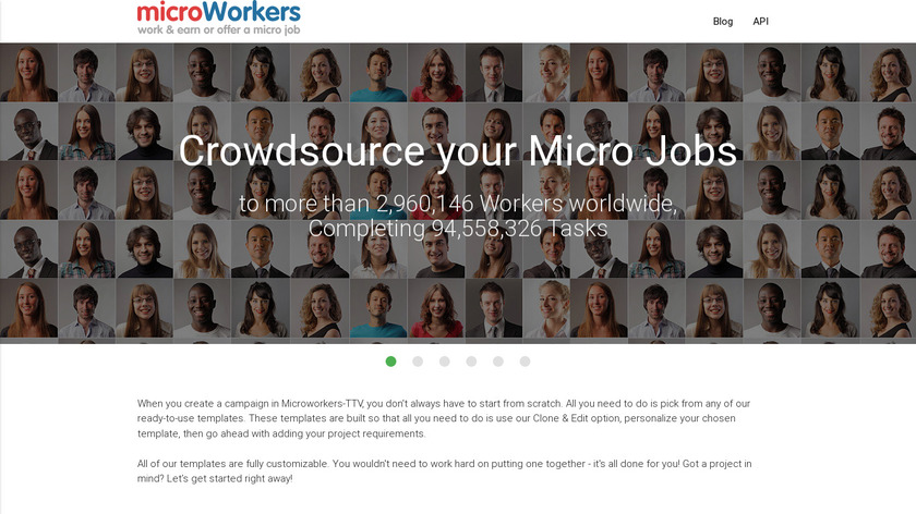 Microworkers Landing Page