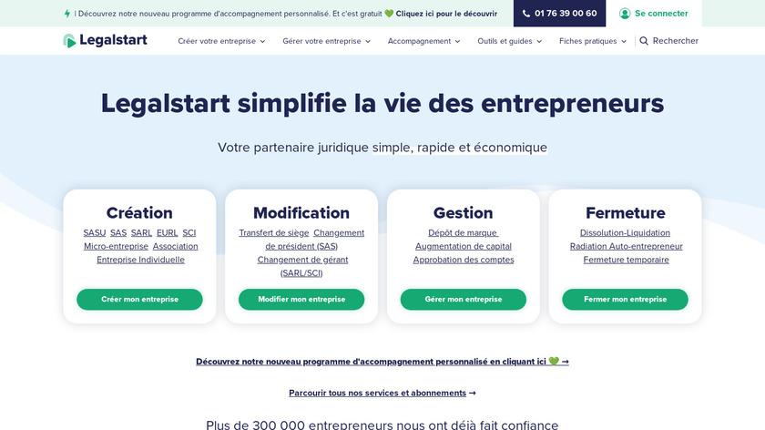 Legal Start Landing Page