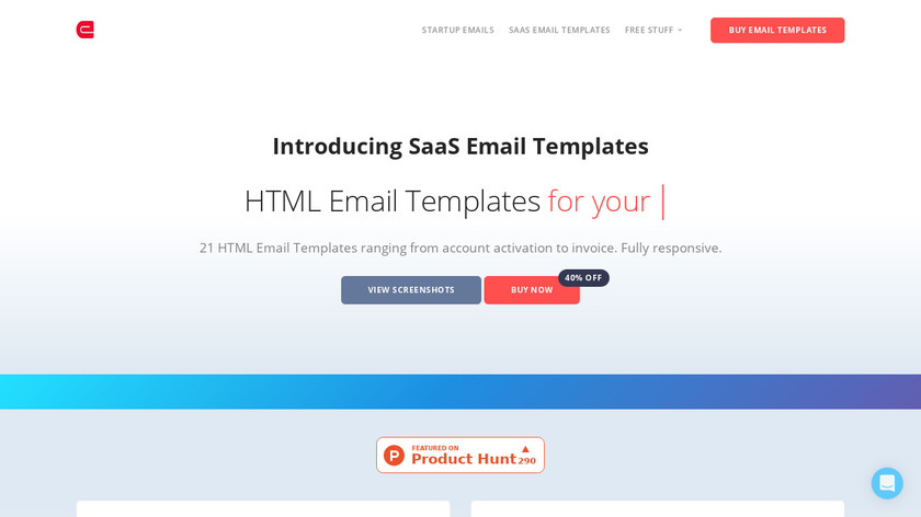 SaaS Email Templates Landing Page