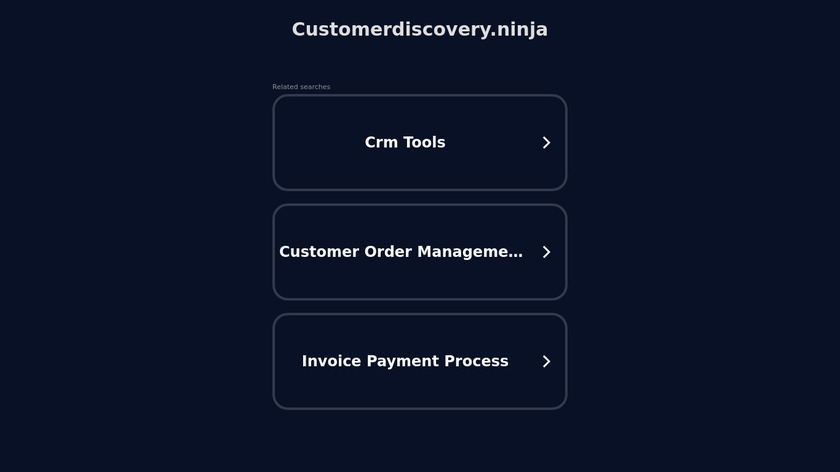 Customer Discovery Ninja Landing Page