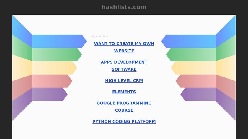 HashLists.com Landing Page