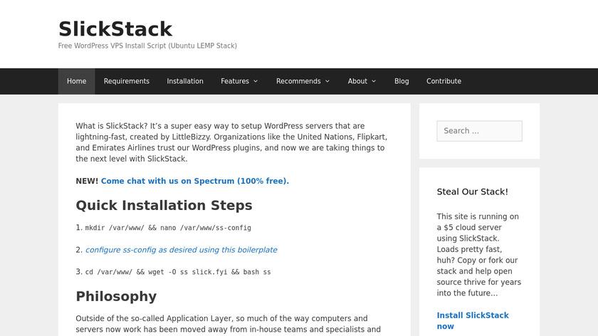 SlickStack Landing Page