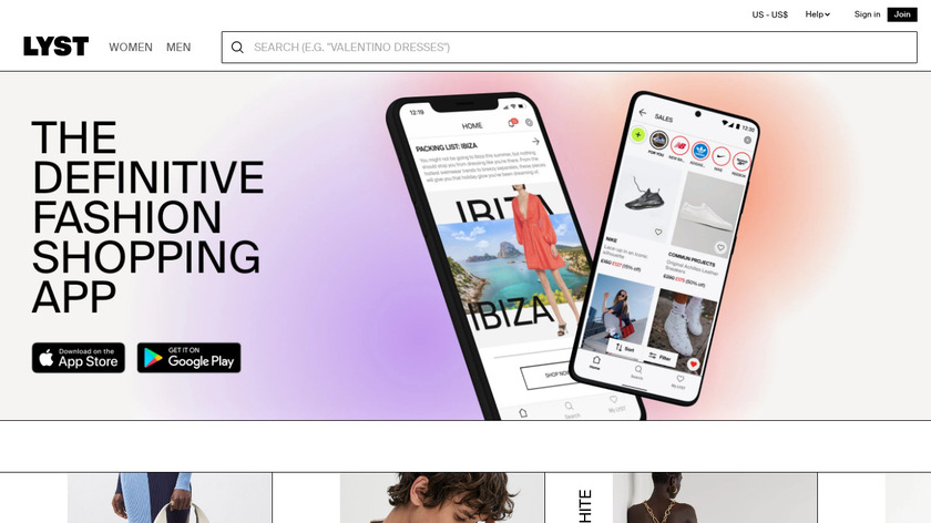 Lyst Landing Page