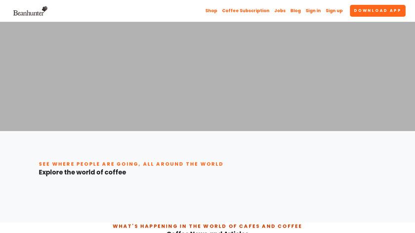 Beanhunter Landing Page