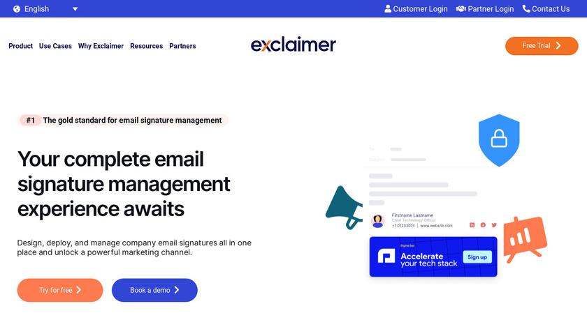 Exclaimer Landing Page