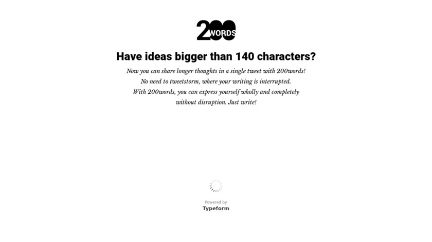 200words Landing Page