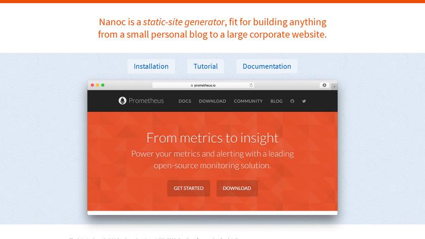 Nanoc Landing Page