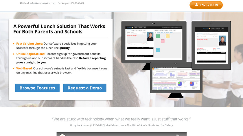 Lunch Cashier System Landing Page