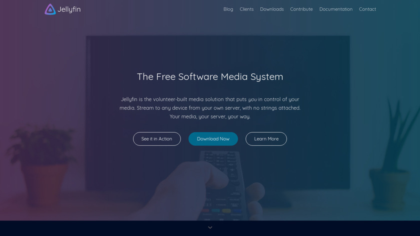 Jellyfin Landing Page