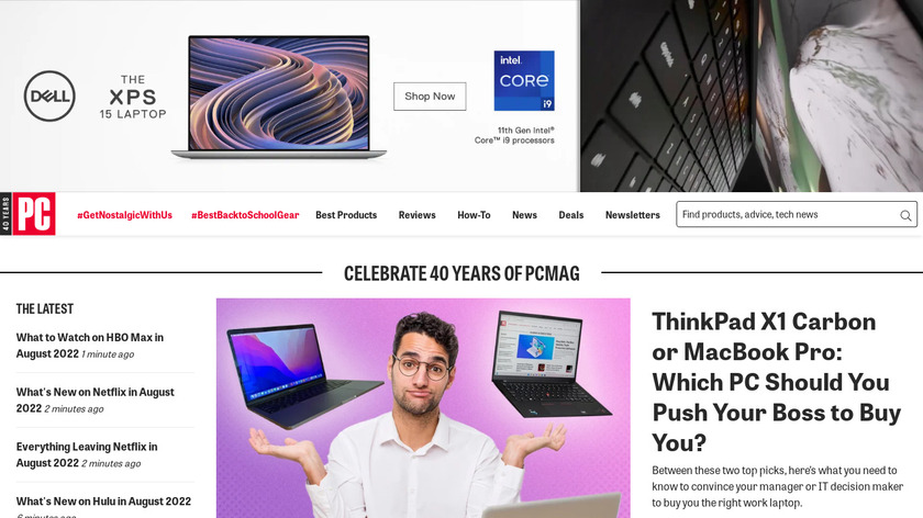 PCMag Landing Page