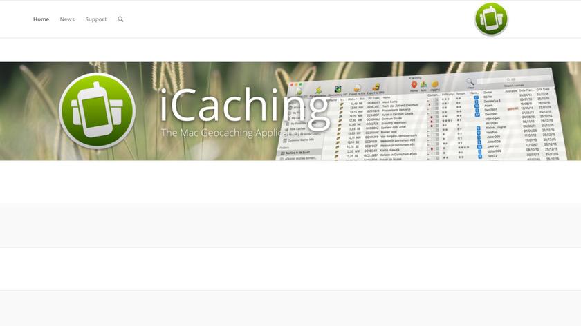 iCaching Landing Page