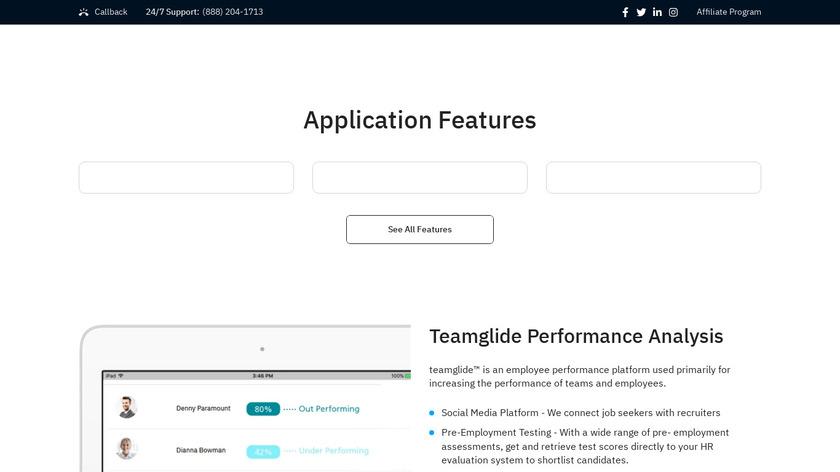 TeamGlide Landing Page