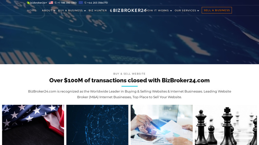 BizBroker24 Landing Page