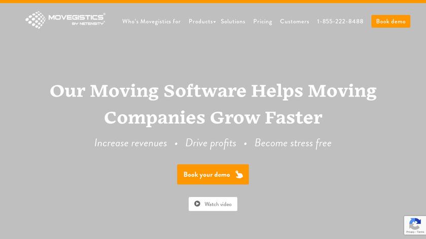 Movegistics CRM Landing Page
