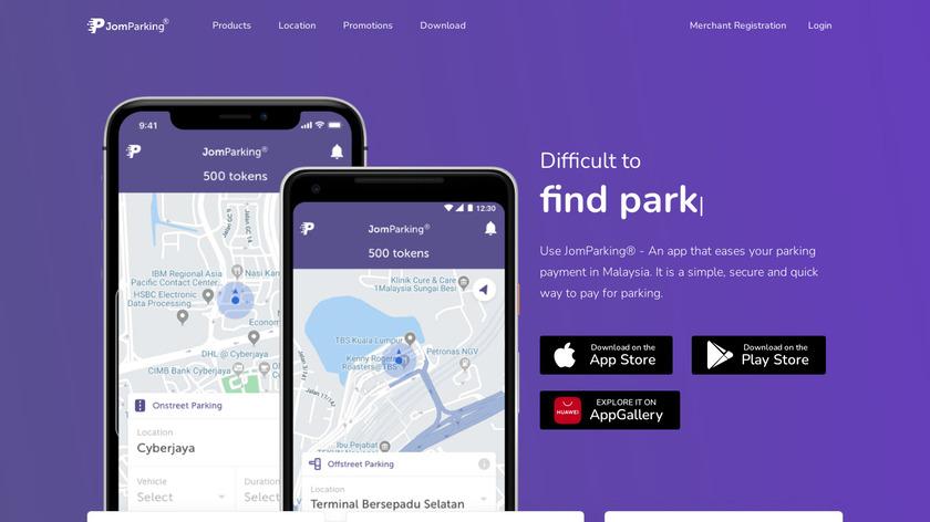 JomParking Landing Page