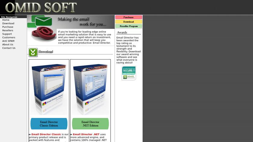 omidsoft.com Email Converter .NET Landing Page