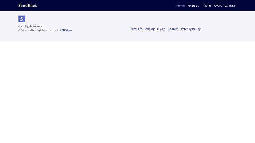 Sendtinel Landing Page