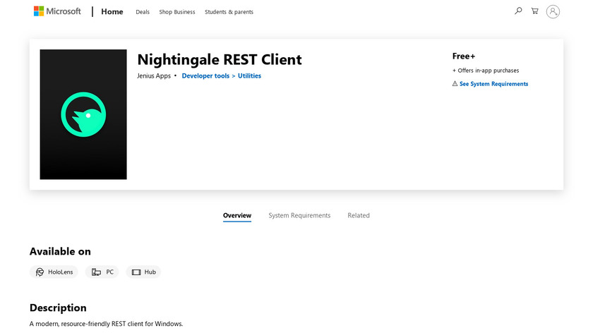 Nightingale REST API Client Landing Page