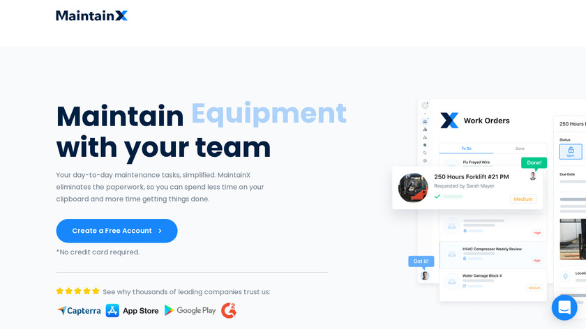 MaintainX Landing Page