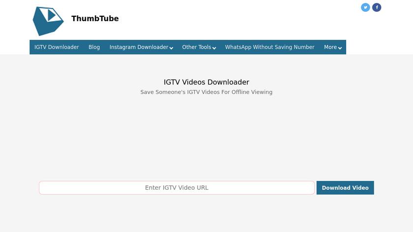 IGTV Video Downloader Landing Page