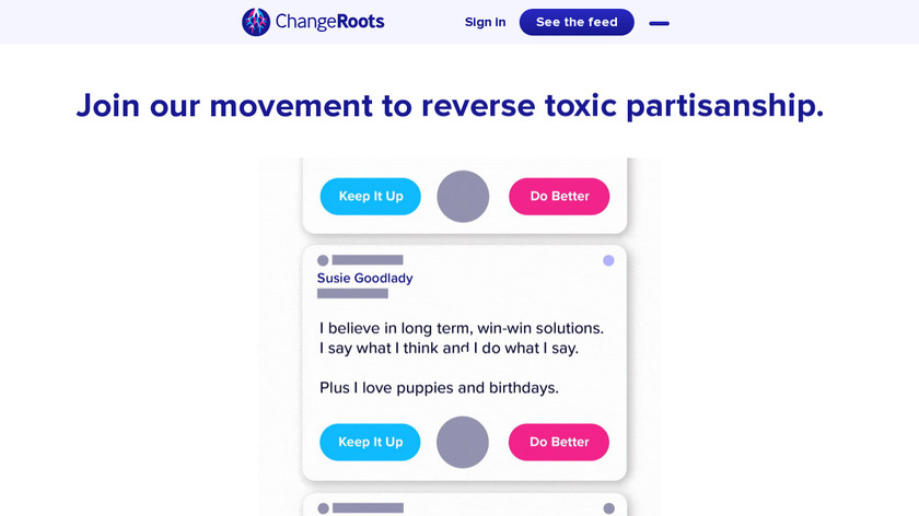 ChangeRoots Landing Page
