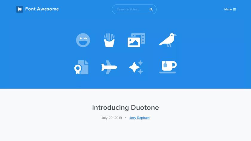 Font Awesome Pro Duotone Landing Page