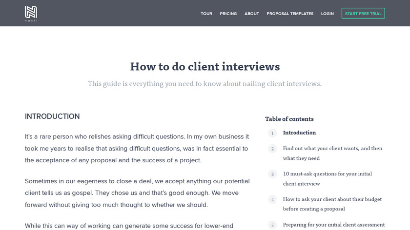 How to Survive Client Interviews Landing Page