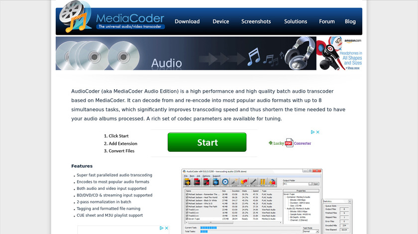 AudioCoder Landing Page