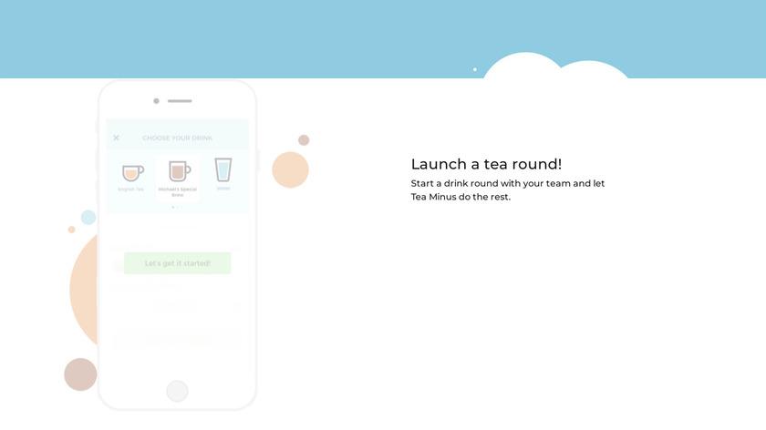 Tea Minus Landing Page