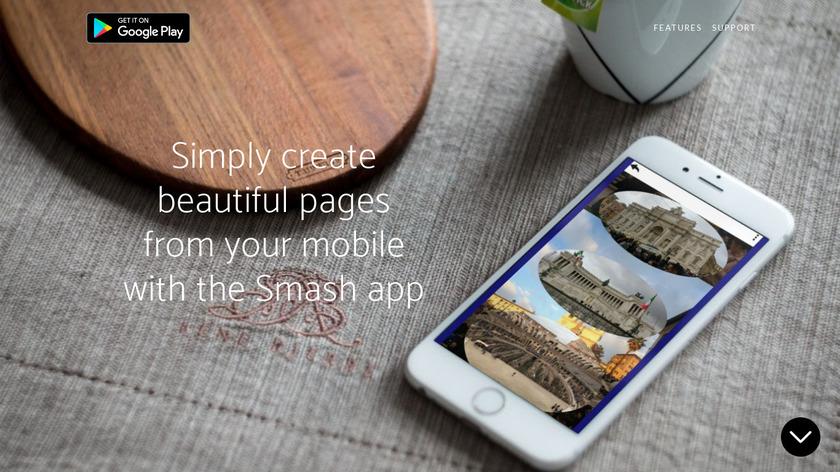 Smash Page Creator Landing Page