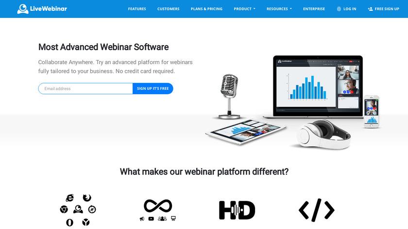 LiveWebinar Landing Page