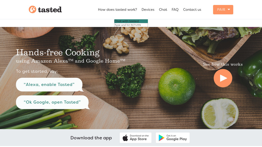 Tasted Landing Page