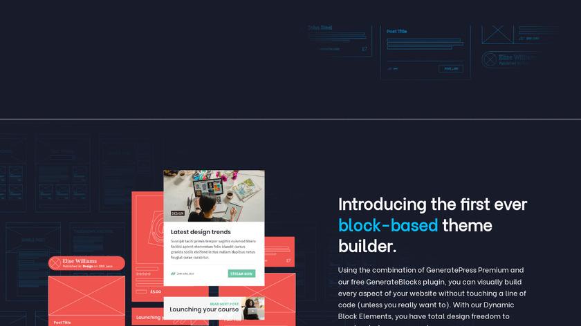 GeneratePress Landing Page