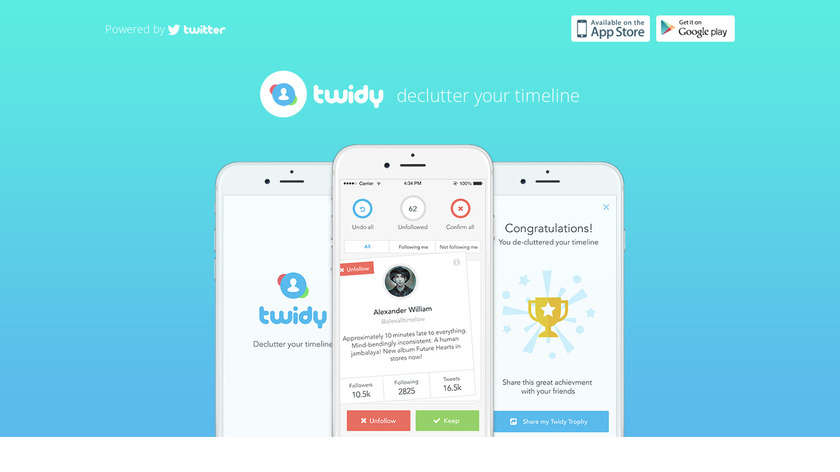 Twidy App Landing Page