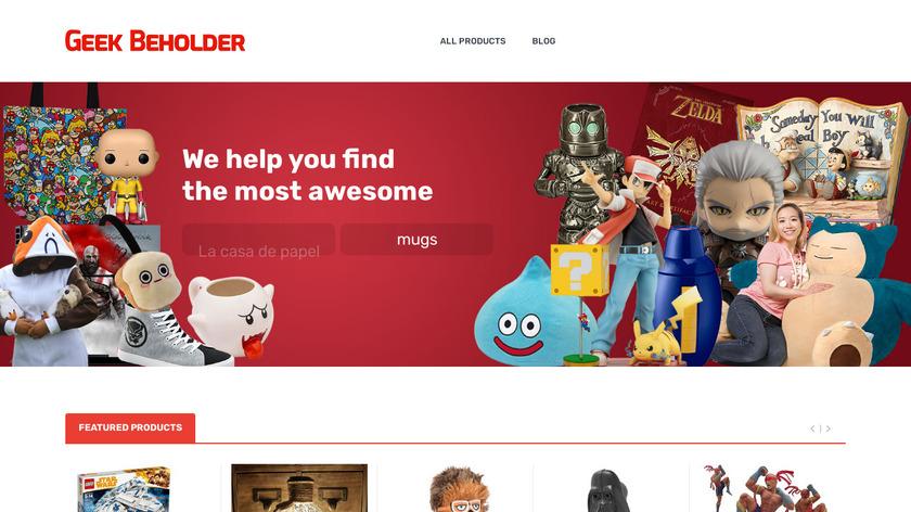 Geek Beholder Landing Page
