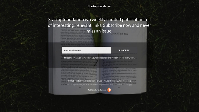 Startup Curated Landing Page