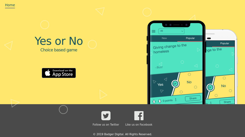 Yes or No Landing Page