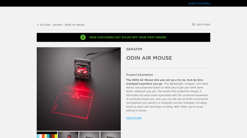 ODiN Air Mouse Landing Page