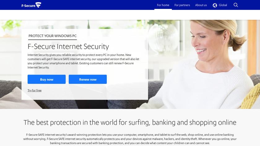 F-Secure Internet Security Landing Page