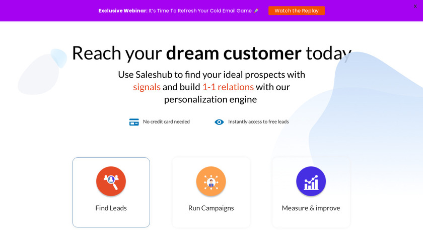 Salestools Landing Page