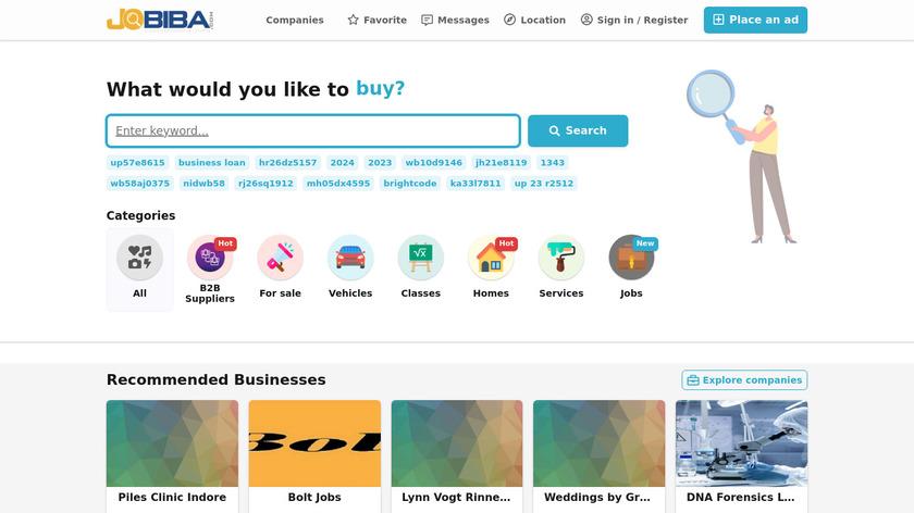 Jobiba.com Landing Page