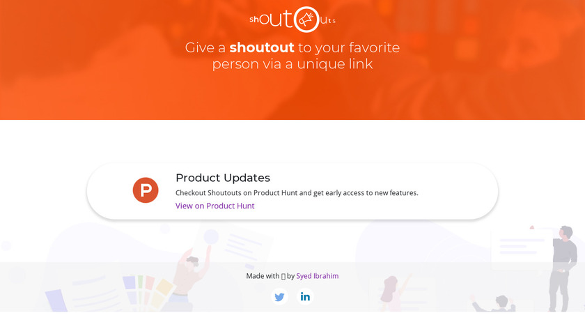 Shout Outs Landing Page