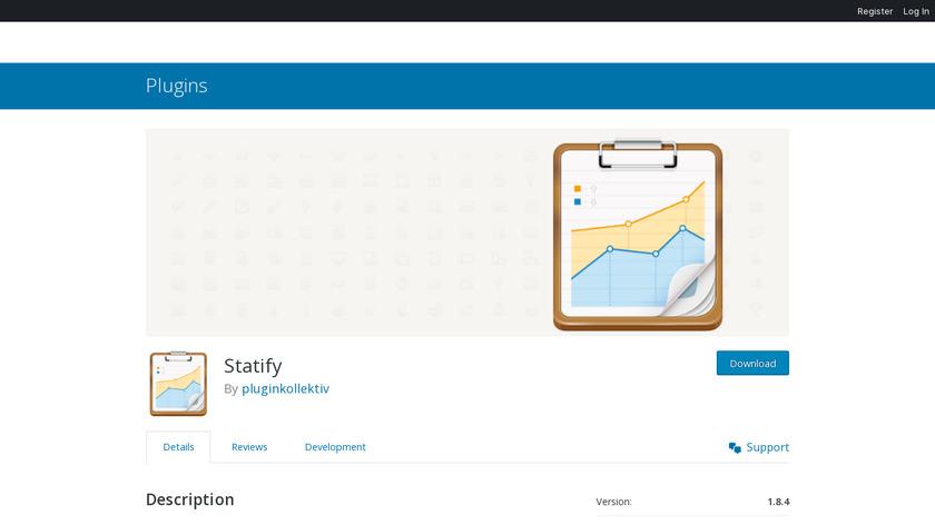 Statify Landing Page