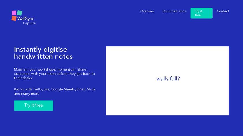 WallSync Capture Landing Page
