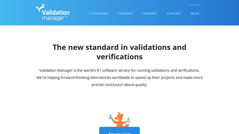 Validation Manager Landing Page