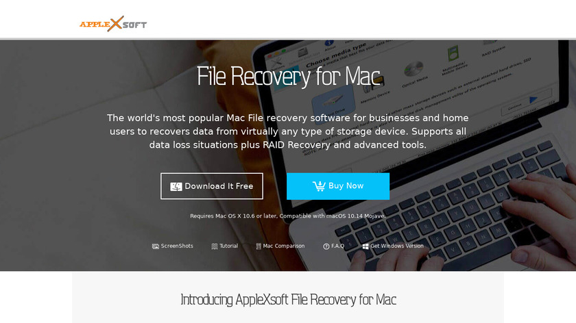 AppleXsoft File Recovery for Mac Landing Page