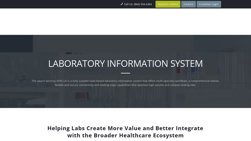 XIFIN LIS Anywhere Landing Page