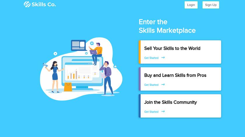Skills Co Landing Page